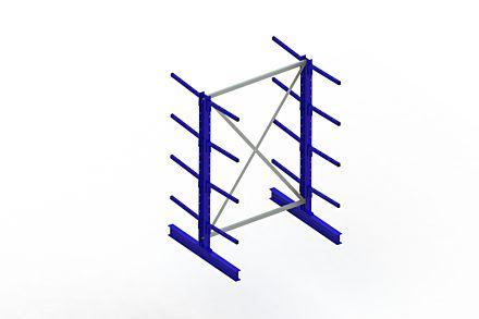 Draagarmstelling - Dubbelzijdig - 2000 mm x 1394 mm x 1220 mm - Uitvoering :Dubbelzijdig van Magazijn.nl