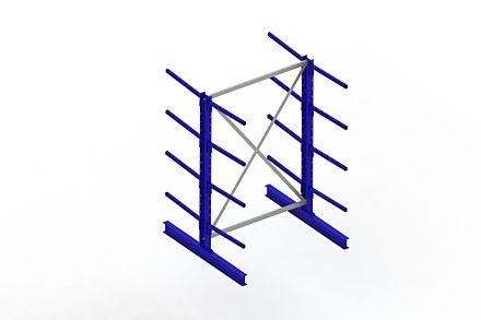Draagarmstelling - Dubbelzijdig - 2000 mm x 1394 mm x 1420 mm - Uitvoering :Dubbelzijdig van Magazijn.nl
