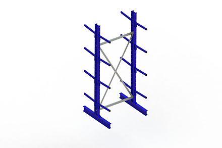 Draagarmstelling - Dubbelzijdig - 2500 mm x 1094 mm x 1020 mm - Uitvoering :Dubbelzijdig van Magazijn.nl