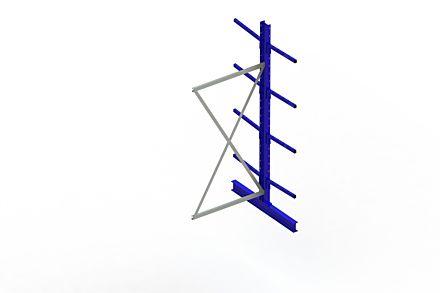 Draagarmstelling - Dubbelzijdig - 2500 mm x 1030 mm x 1220 mm - Uitvoering :Dubbelzijdig van Magazijn.nl