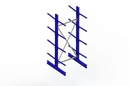 Draagarmstelling - Dubbelzijdig - 2500 mm x 1094 mm x 1220 mm - Uitvoering :Dubbelzijdig van Magazijn.nl