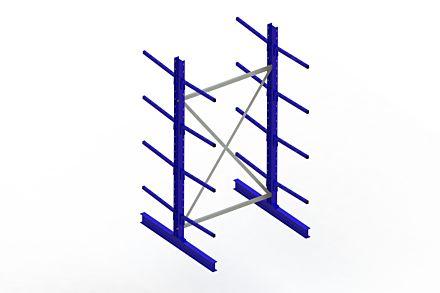 Draagarmstelling - Dubbelzijdig - 2500 mm x 1394 mm x 1420 mm - Uitvoering :Dubbelzijdig van Magazijn.nl