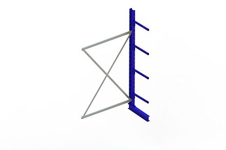 Draagarmstelling - Enkelzijdig - 2500 mm x 1330 mm x 710 mm - Uitvoering :Enkelzijdig van Magazijn.nl