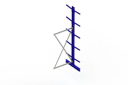 Draagarmstelling - Dubbelzijdig - 3000 mm x 1030 mm x 1020 mm - Uitvoering :Dubbelzijdig van Magazijn.nl