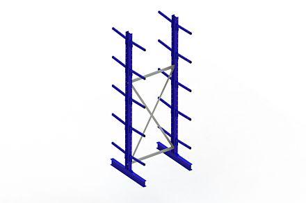 Draagarmstelling - Dubbelzijdig - 3000 mm x 1094 mm x 1020 mm - Uitvoering :Dubbelzijdig van Magazijn.nl