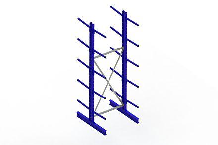 Draagarmstelling - Dubbelzijdig - 3000 mm x 1094 mm x 1220 mm - Uitvoering :Dubbelzijdig van Magazijn.nl