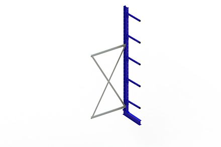 Draagarmstelling - Enkelzijdig - 3000 mm x 1030 mm x 710 mm - Uitvoering :Enkelzijdig van Magazijn.nl