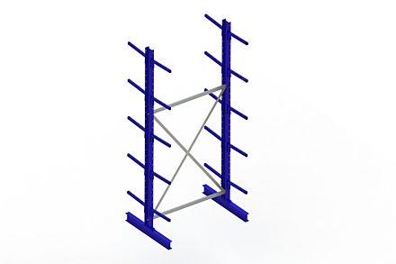 Draagarmstelling - Dubbelzijdig - 3000 mm x 1394 mm x 1020 mm - Uitvoering :Dubbelzijdig van Magazijn.nl