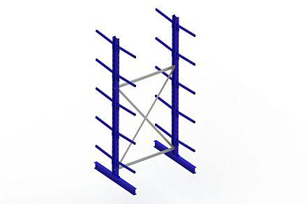 Draagarmstelling - Dubbelzijdig - 3000 mm x 1394 mm x 1220 mm - Uitvoering :Dubbelzijdig van Magazijn.nl