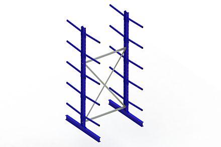 Draagarmstelling - Dubbelzijdig - 3000 mm x 1394 mm x 1420 mm - Uitvoering :Dubbelzijdig van Magazijn.nl