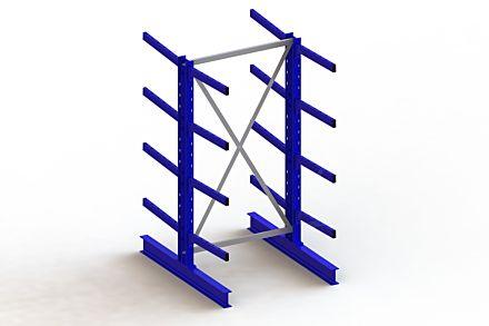 Draagarmstelling - Dubbelzijdig - 2000 mm x 1103 mm x 1440 mm - Uitvoering :Dubbelzijdig van Magazijn.nl