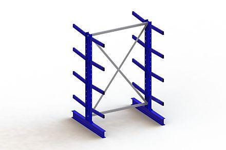 Draagarmstelling - Dubbelzijdig - 2000 mm x 1403 mm x 1240 mm - Uitvoering :Dubbelzijdig van Magazijn.nl