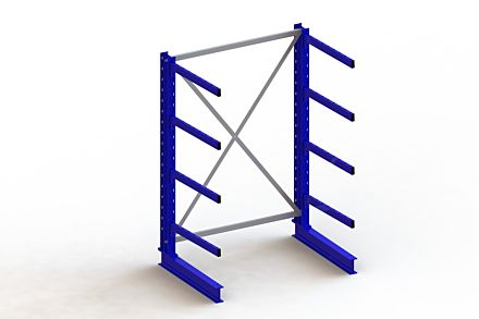 Draagarmstelling - Enkelzijdig - 2000 mm x 1403 mm x 1030 mm - Uitvoering :Enkelzijdig van Magazijn.nl