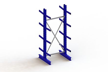 Draagarmstelling - Dubbelzijdig - 2500 mm x 1103 mm x 1040 mm - Uitvoering :Dubbelzijdig van Magazijn.nl