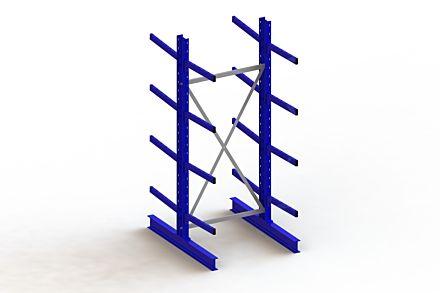 Draagarmstelling - Dubbelzijdig - 2500 mm x 1103 mm x 1440 mm - Uitvoering :Dubbelzijdig van Magazijn.nl