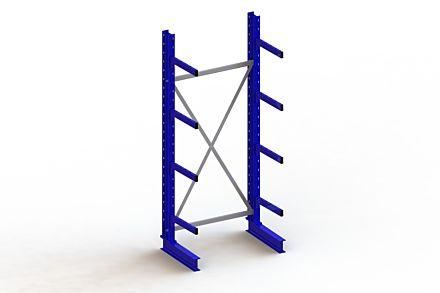 Draagarmstelling - Enkelzijdig - 2500 mm x 1103 mm x 730 mm - Uitvoering :Enkelzijdig van Magazijn.nl