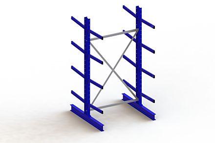 Draagarmstelling - Dubbelzijdig - 2500 mm x 1403 mm x 1440 mm - Uitvoering :Dubbelzijdig van Magazijn.nl