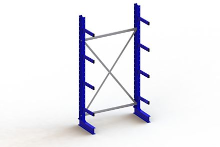 Draagarmstelling - Enkelzijdig - 2500 mm x 1403 mm x 630 mm - Uitvoering :Enkelzijdig van Magazijn.nl