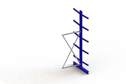 Draagarmstelling - Dubbelzijdig - 3000 mm x 1030 mm x 1440 mm - Uitvoering :Dubbelzijdig van Magazijn.nl