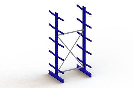Draagarmstelling - Dubbelzijdig - 3000 mm x 1403 mm x 1240 mm - Uitvoering :Dubbelzijdig van Magazijn.nl