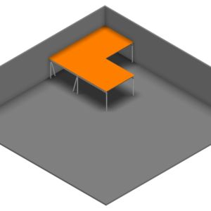 Entresolvloer 10.200 x 10.500 mm - 350 kg