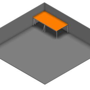 Entresolvloer 10.500 x 5.100 mm - 350 kg