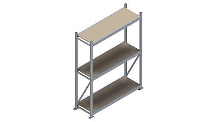 Grootvakstelling HSG 3000 - 2500 x 1586 x 500 - Verstelbare legborden van hout of staal  | Magazijn.nl - De logistieke webshop van Nederland