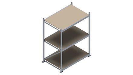 Grootvakstelling HSG 3000 - 2000 x 1586 x 1000 - Verstelbare legborden van hout of staal  | Magazijn.nl - De logistieke webshop van Nederland