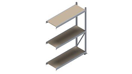 Grootvakstelling HSG 3000 - 2000 x 1543 x 500 - Verstelbare legborden van hout of staal  | Magazijn.nl - De logistieke webshop van Nederland