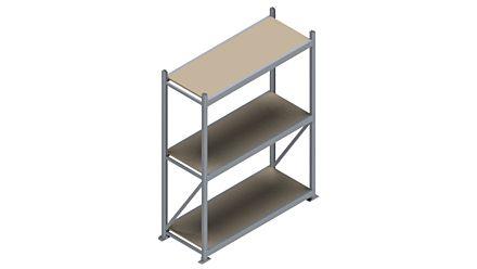 Grootvakstelling HSG 3000 - 2000 x 1586 x 600 - Verstelbare legborden van hout of staal  | Magazijn.nl - De logistieke webshop van Nederland