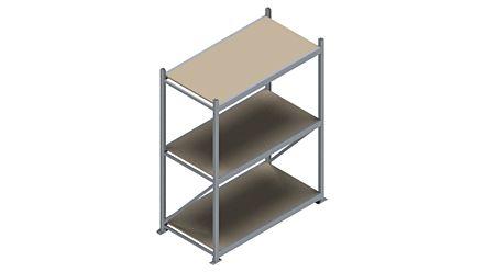 Grootvakstelling HSG 3000 - 2000 x 1586 x 800 - Verstelbare legborden van hout of staal  | Magazijn.nl - De logistieke webshop van Nederland