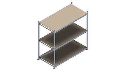 Grootvakstelling HSG 3000 - 2000 x 2086 x 1000 - Verstelbare legborden van hout of staal  | Magazijn.nl - De logistieke webshop van Nederland