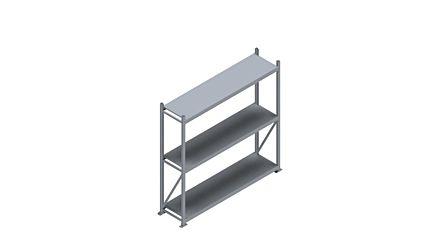 Grootvakstelling HSG 3000 - 2000 x 2086 x 500 - Verstelbare legborden van hout of staal  | Magazijn.nl - De logistieke webshop van Nederland