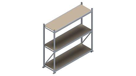 Grootvakstelling HSG 3000 - 2000 x 2086 x 600 - Verstelbare legborden van hout of staal  | Magazijn.nl - De logistieke webshop van Nederland