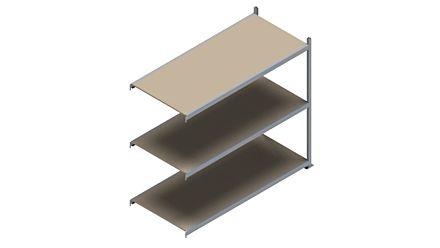 Grootvakstelling HSG 3000 - 2000 x 2293 x 1000 - Verstelbare legborden van hout of staal  | Magazijn.nl - De logistieke webshop van Nederland