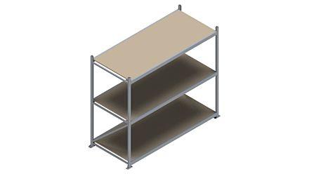 Grootvakstelling HSG 3000 - 2000 x 2336 x 1000 - Verstelbare legborden van hout of staal  | Magazijn.nl - De logistieke webshop van Nederland