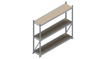 Grootvakstelling HSG 3000 - 2000 x 2336 x 500 - Verstelbare legborden van hout of staal  | Magazijn.nl - De logistieke webshop van Nederland
