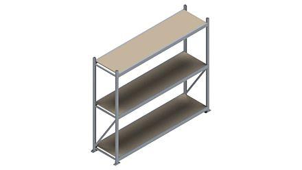 Grootvakstelling HSG 3000 - 2000 x 2336 x 600 - Verstelbare legborden van hout of staal  | Magazijn.nl - De logistieke webshop van Nederland