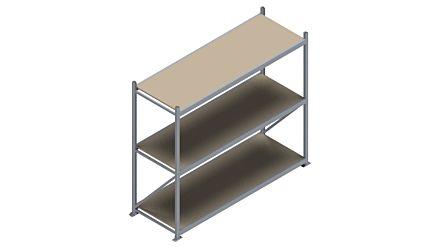 Grootvakstelling HSG 3000 - 2000 x 2336 x 800 - Verstelbare legborden van hout of staal    Magazijn.nl - De logistieke webshop van Nederland