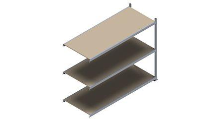 Grootvakstelling HSG 3000 - 2000 x 2543 x 1000 - Verstelbare legborden van hout of staal  | Magazijn.nl - De logistieke webshop van Nederland