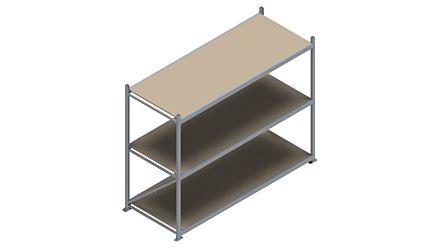 Grootvakstelling HSG 3000 - 2000 x 2586 x 1000 - Verstelbare legborden van hout of staal    Magazijn.nl - De logistieke webshop van Nederland