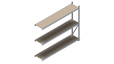 Grootvakstelling HSG 3000 - 2000 x 2543 x 500 - Verstelbare legborden van hout of staal    Magazijn.nl - De logistieke webshop van Nederland