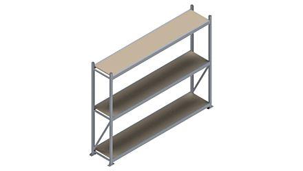 Grootvakstelling HSG 3000 - 2000 x 2586 x 500 - Verstelbare legborden van hout of staal  | Magazijn.nl - De logistieke webshop van Nederland