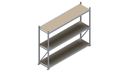 Grootvakstelling HSG 3000 - 2000 x 2586 x 600 - Verstelbare legborden van hout of staal  | Magazijn.nl - De logistieke webshop van Nederland