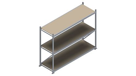 Grootvakstelling HSG 3000 - 2000 x 2586 x 800 - Verstelbare legborden van hout of staal    Magazijn.nl - De logistieke webshop van Nederland