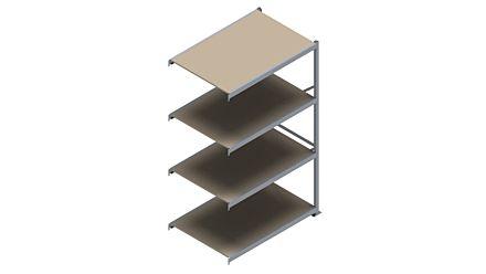 Grootvakstelling HSG 3000 - 2500 x 1543 x 1000 - Verstelbare legborden van hout of staal  | Magazijn.nl - De logistieke webshop van Nederland