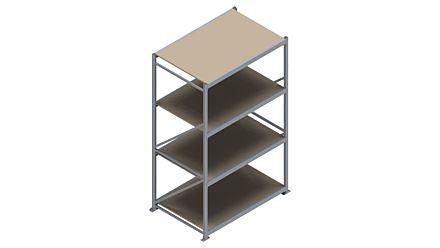 Grootvakstelling HSG 3000 - 2500 x 1586 x 1000 - Verstelbare legborden van hout of staal  | Magazijn.nl - De logistieke webshop van Nederland