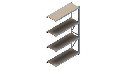 Grootvakstelling HSG 3000 - 2500 x 1543 x 500 - Verstelbare legborden van hout of staal  | Magazijn.nl - De logistieke webshop van Nederland