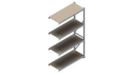 Grootvakstelling HSG 3000 - 2500 x 1543 x 600 - Verstelbare legborden van hout of staal  | Magazijn.nl - De logistieke webshop van Nederland