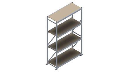 Grootvakstelling HSG 3000 - 2500 x 1586 x 600 - Verstelbare legborden van hout of staal  | Magazijn.nl - De logistieke webshop van Nederland